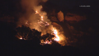 Fire Chars Brush Along 118 Freeway in Chatsworth