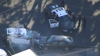 Pursuit Ends After Suspect Slams Head-On Into LAPD SUV