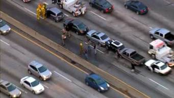 Crash Closes Lanes on SB 5 in Boyle Heights