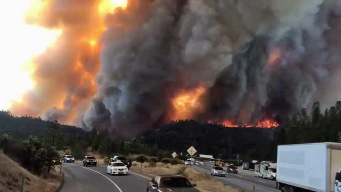 Delta Fire Continues Rapid Spread; I-5 Remains Closed