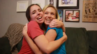 Sisters Surprise One Another With Pregnancy Reveal