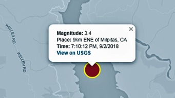 Magnitude 3.4 Earthquake Hits Near Milpitas: USGS