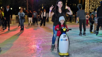 Last Chance to Spin at a Seasonal Ice Rink