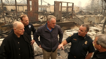 Gov. Brown Visits Woolsey Fire Devastation