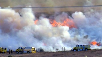 Wildfire North of LA Grows to 3,800 Acres