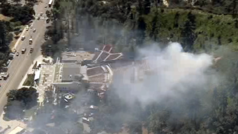Small Brush Fire Erupts Near Griffith Park