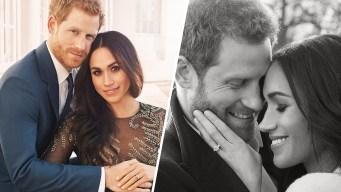 Prince Harry, Meghan Markle Release Engagement Portraits