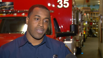 Firefighter Saves Man Threatening to Jump From Overpass