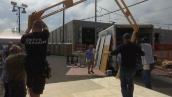 Emergency Sleeping Cabin Built Downtown For Homeless Women and Children