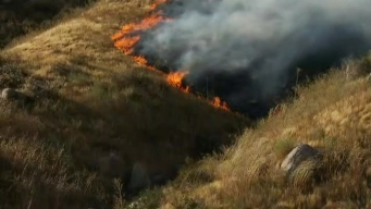 Firefighters Battle Beaumont Brush Fire