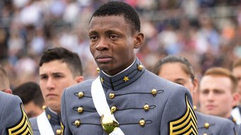 Haiti-Born Cadet Weeps at His West Point Graduation