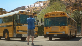 LA School Buses Fall in Love in Music Video