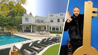 DJ Khaled Gets the Keys to Robbie Williams' Mansion