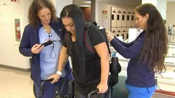 'We Call It a Robot': Exoskeleton Helps Mom Walk Again