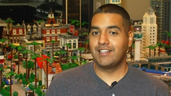 LAPD Officer Builds LA Skyline With Legos