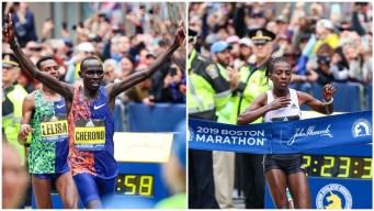 Boston Marathon Champs: Kenya's Cherono, Ethiopia's Degefa