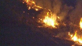 Springs Fire Burns Across Santa Monica Mountains
