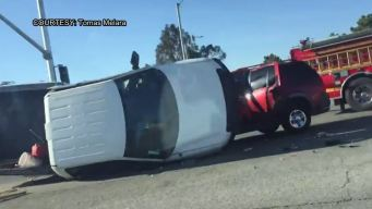 Palmdale Crash Sends 5 to Hospital