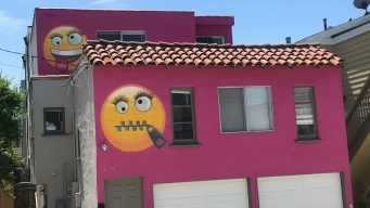 The Weird Story Behind the Manhattan Beach Pink Emoji House