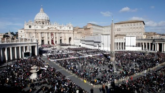 Faithful File into St. Peter's for Historic Papal Inauguration