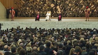 Pope Francis Speaks to Massive Media Gathering