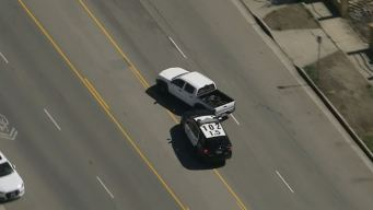 Police Ram Pickup in Chase on San Fernando Valley Streets