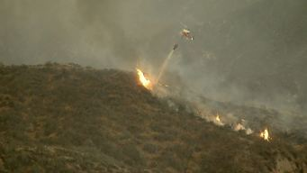 Sand Fire Doubles in Size in One Day