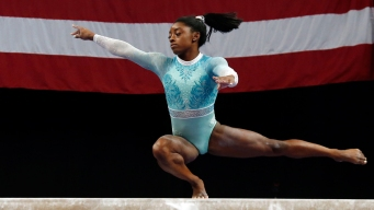 Biles Dresses 'For the Survivors' While Winning 5th US Title