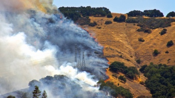 Brush Fire Burns 125 Acres in California Foothills
