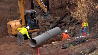 Sinkholes Possible After Wildfires Torched Underground Pipes