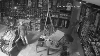 Burglar Can't Escape Store