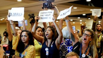 Delegates Talk on DNC Floor, With Party at a Crossroads