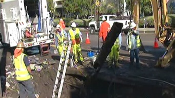 Flood Cleanup Slows Ventura Boulevard Drive