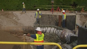 Crews Close to Fixing Busted Water Main Near UCLA