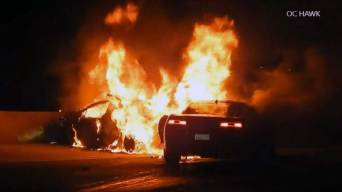 One Killed in Fiery Hit-and-Run Crash on 605 Freeway