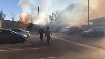 Brush Fire Breaks Out in Huntington Beach