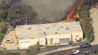 Brush Fire Burning in Pacific Palisades