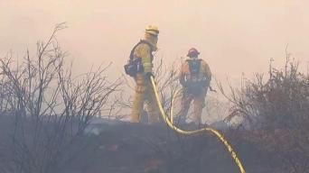 Crews Save Homes as Winds Whip Tenaja Fire