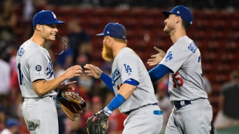 Dodgers Beat Red Sox, 7-4, in 12 Innings to Take Fenway Series