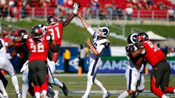 Goff Throws Career-High 517 Yards in Rams' 55-40 Loss to Tampa Bay
