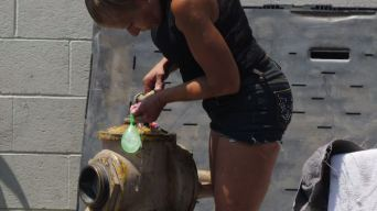 Los Angeles Homeless Illegally Use Fire Hydrants to Fill Water Balloons, Bathe, Shave