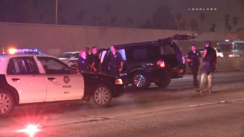 SUV Crashes on 101 Freeway After Police Chase