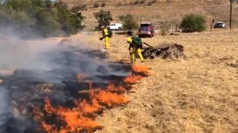 Brush Fire Threatens Homes in Jurupa Valley