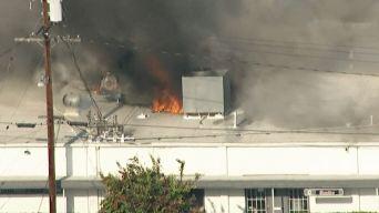 Fire Burns Santa Ana Commercial Building
