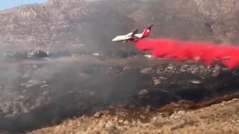 Fire Burning in Sycamore Canyon in Riverside