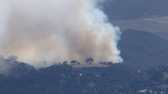 Firefighters Rush to Contain Small Wildfire