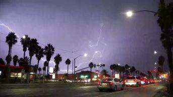 Thunderstorms Hit Southern California, Lightning Blamed for Fires
