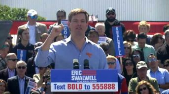 Rep. Eric Swalwell Kicks Off Presidential Run With Calif. Rally