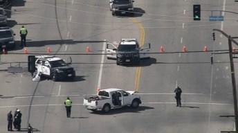 Suspected Drunken Driver Crashes Into LAPD Vehicle