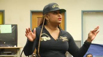 Compton Artist YoYo Gives Students Hip-Hop Education